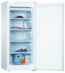 amica 55cm upright freezer