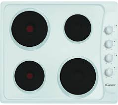 white candy solid plate hob